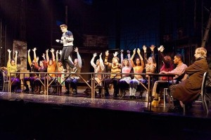 Rent cast perform La Vie Boheme.