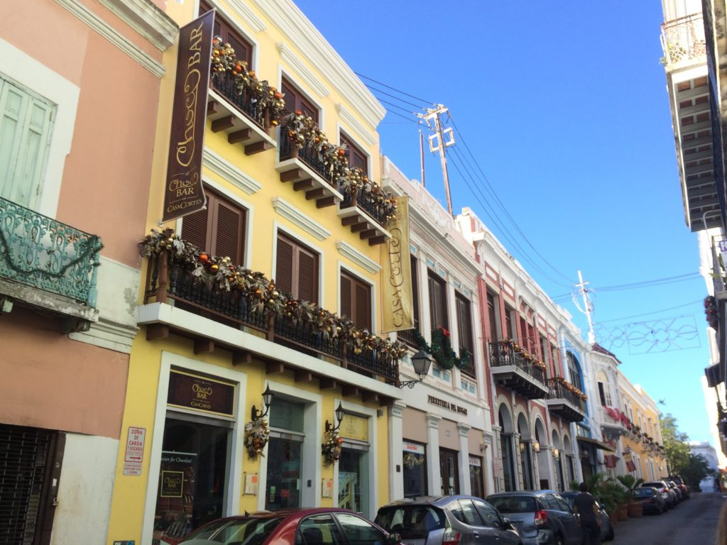 A typical street in Old San Juan.