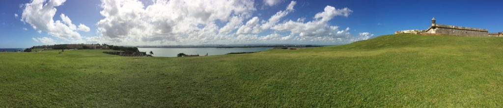A panorama of Castillo San Felipe del Morro, where a majority of students did their service.