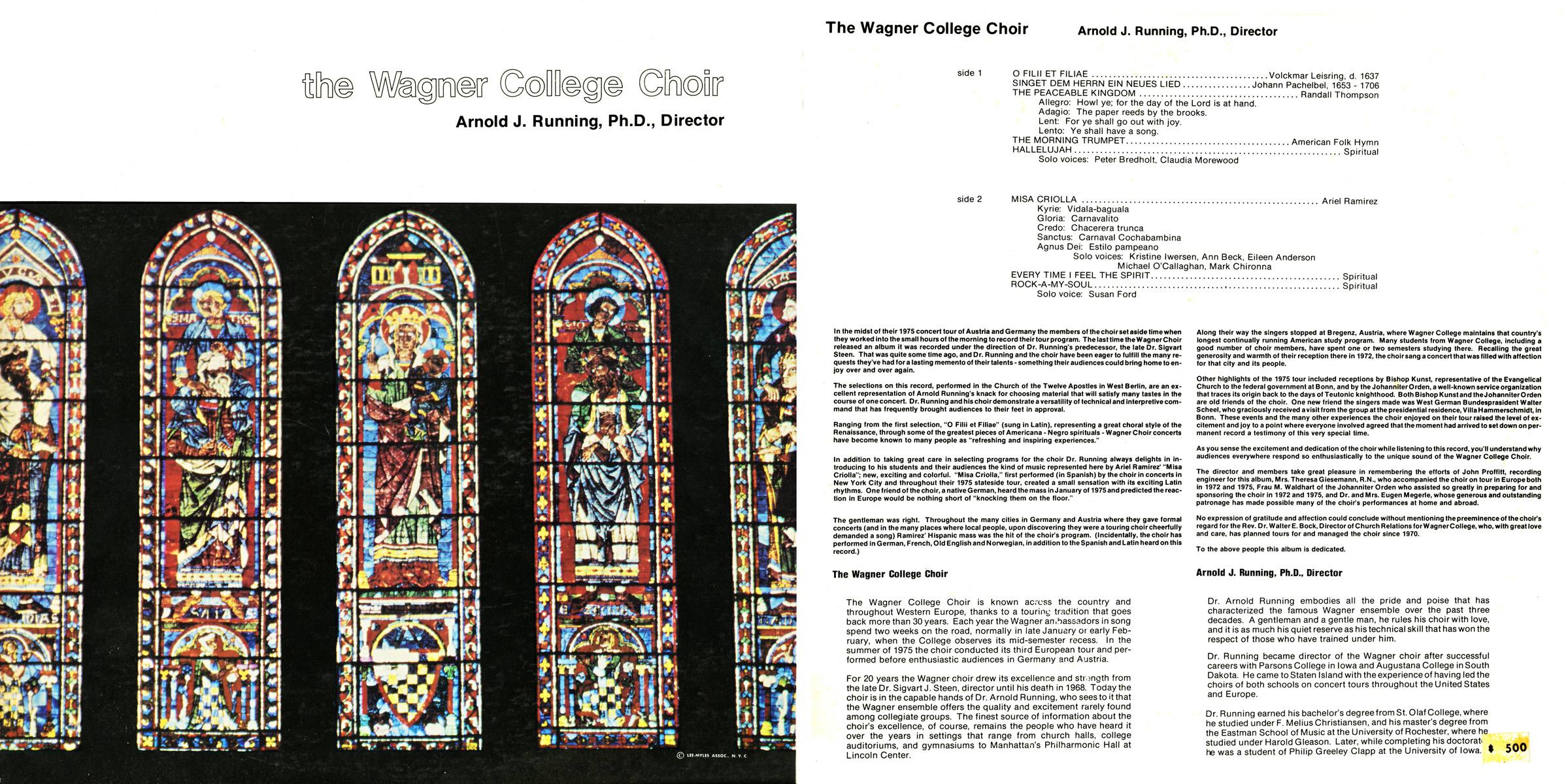 Wagner College Choir 1975 full cover (100 dpi)