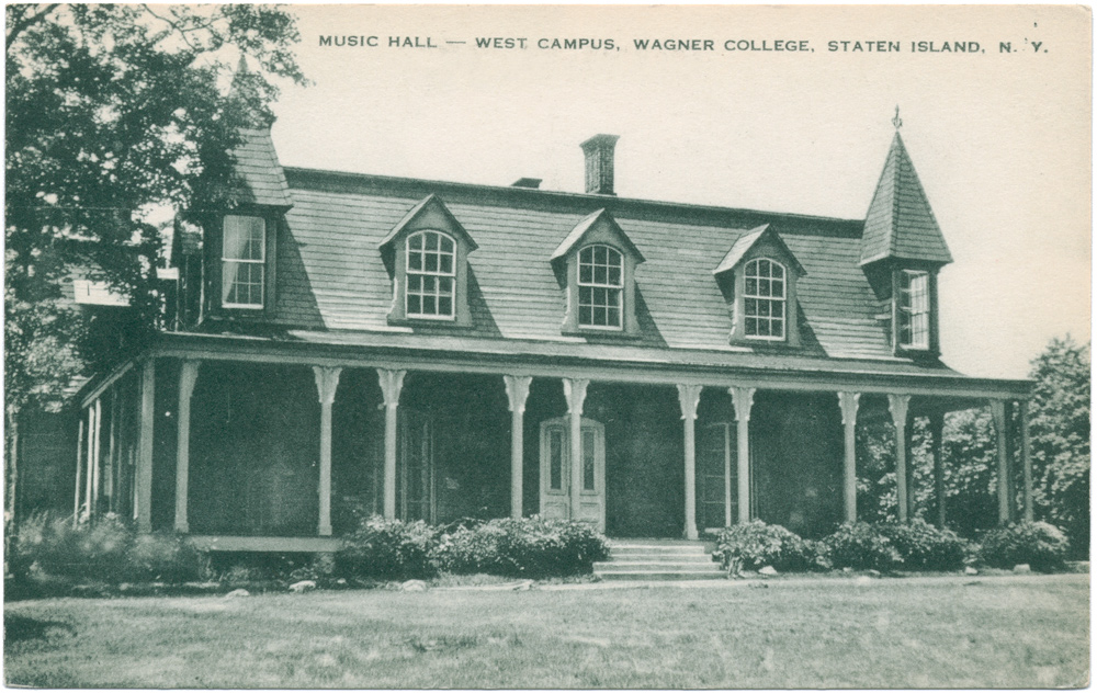 Postcard of the Ward House at Wagner College
