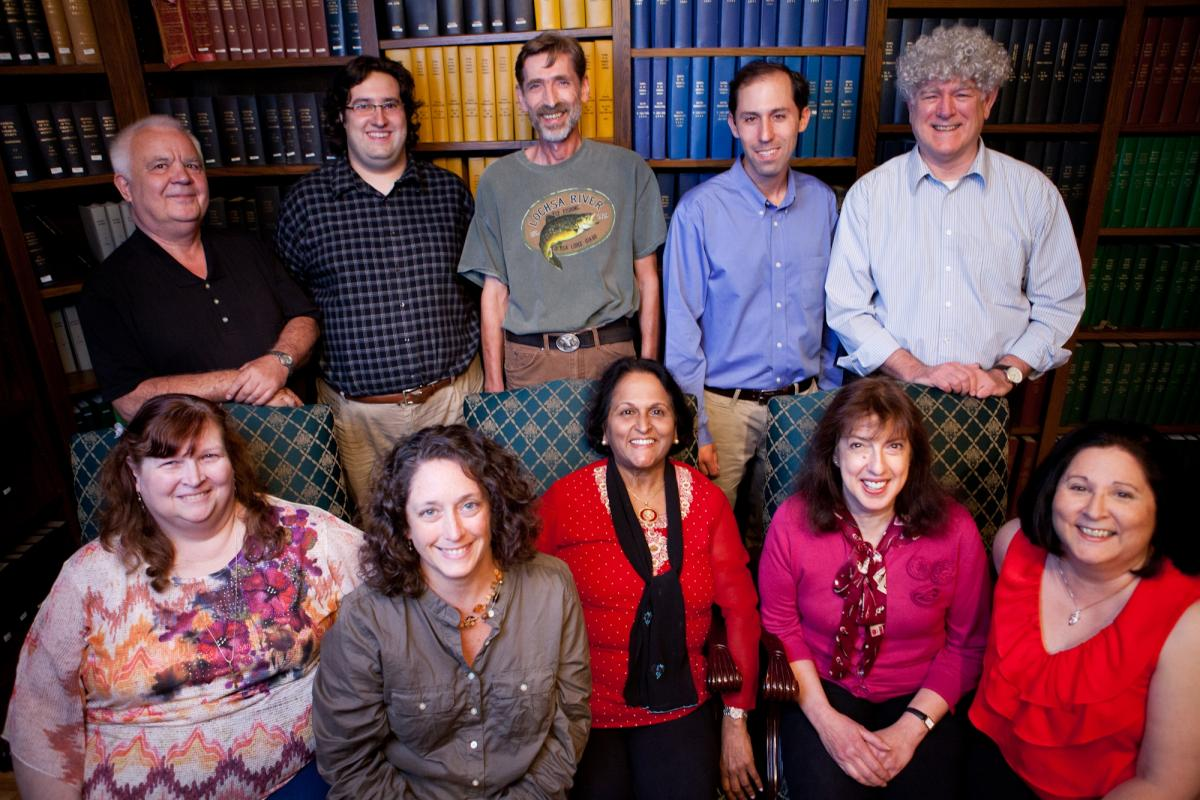 Group image of the faculty in the Biological Sciences Department.