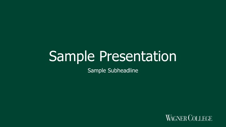 Preview of green 16 x 9 Powerpoint presentation