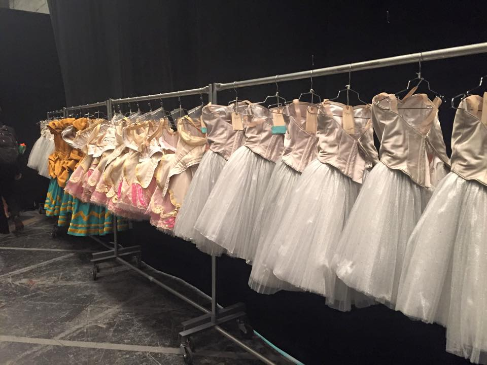 Multi-thousand dollar costumes backstage at the Met Opera
