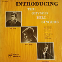 "A photo of the front cover of the album, ""Introducing the Grymes Hill Singers"""