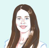 Illustration of Violeta Capric '12
